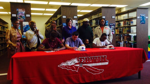 Erwin seniors Jeremiah Jackson, Mitchell Chancey and Chavis Williams have signed to play college football.