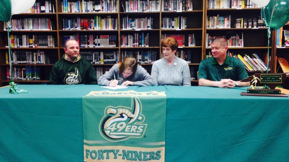 Reynolds senior Megan McCallister has signed to play college soccer for Charlotte.