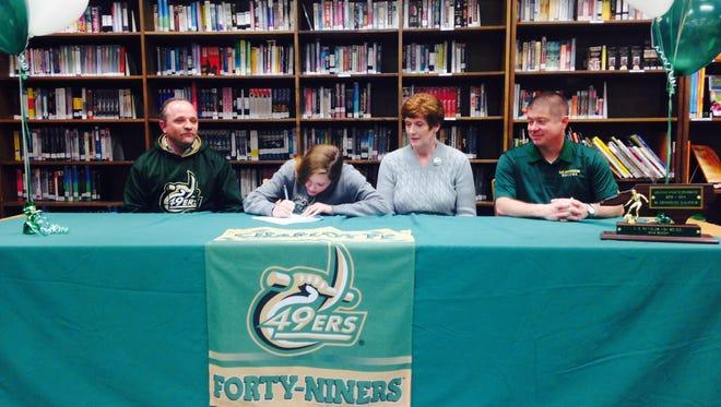Reynolds senior Megan McCallister has signed to play college soccer for Charlotte.