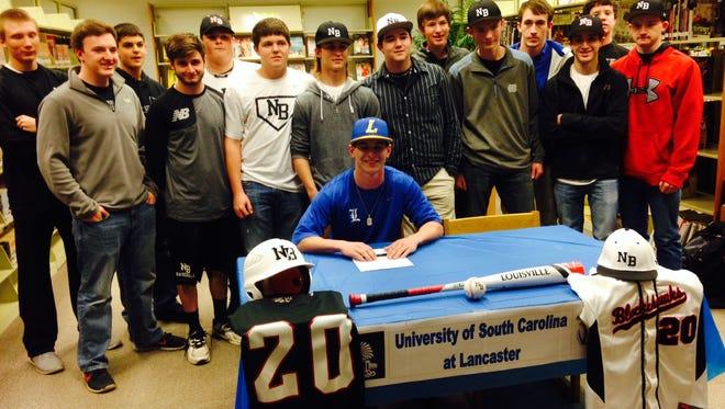 North Buncombe senior Ryan Rickey signed to play college baseball on Friday.