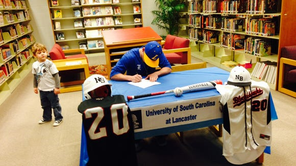 North Buncombe senior Ryan Rickey has signed to play college baseball for South Carolina Lancaster.