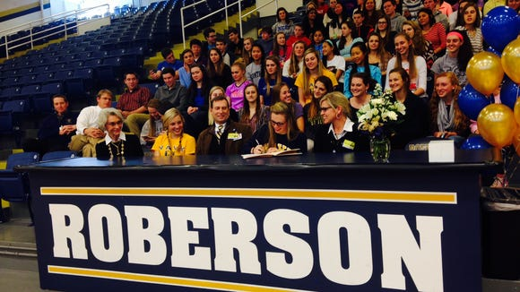 Roberson's Anabell Motley will play college soccer