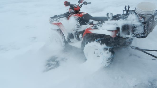 This ATV wouldn't start during a recent ice fishing trip out on the ice of Green Bay.