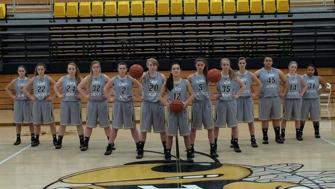 The Hayesville girls basketball team.