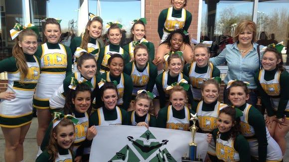 The Reynolds cheerleading team.