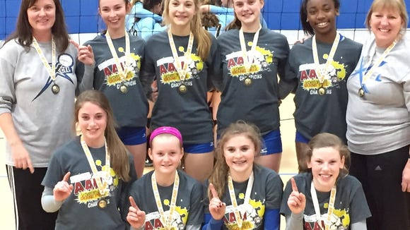 The Xcel Volleyball Performance 13X Select team.