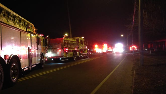 Authorities are investigating a suspicious fire outside a duplex at 873 N. Royal St. tonight.