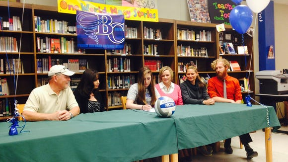 Reynolds senior Catherine Goss has signed to play volleyball