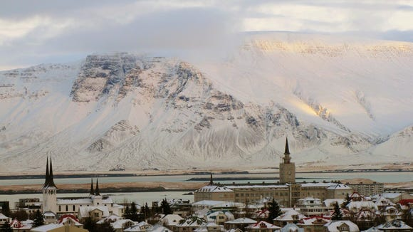 A panoramic view of downtown Reykjavik - the world's