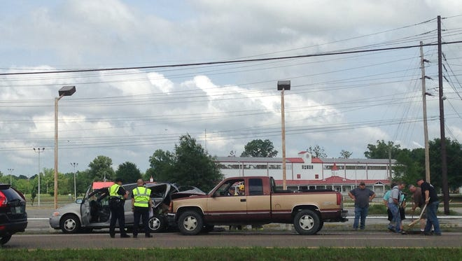 Ambulances and police responded this afternoon to an accident with injuries on the northbound side of South Highland Avenue near the Jackson Fairgrounds, and while they were there a second accident occurred in the southbound lanes.