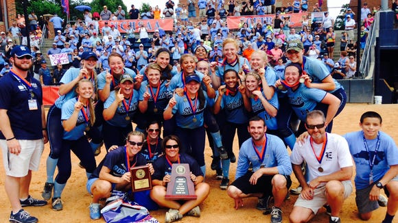 The Enka softball team won the NCHSAA 3-A championship on Saturday in Greensboro.