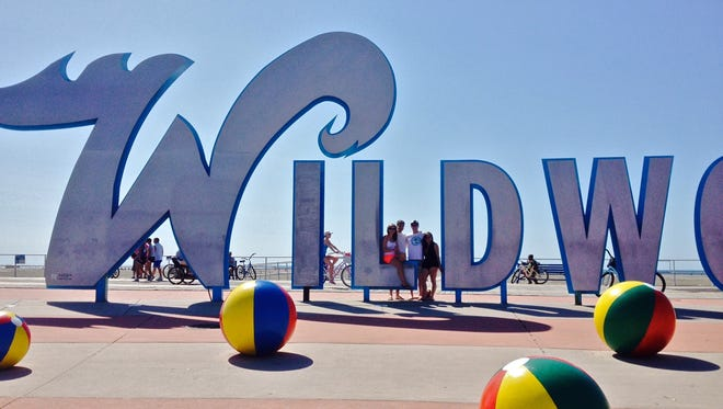This famous sign marks the center of Wildwood Crest in the popular district where you can snap photos of family and friends posing behind the oversized letters and beach balls.