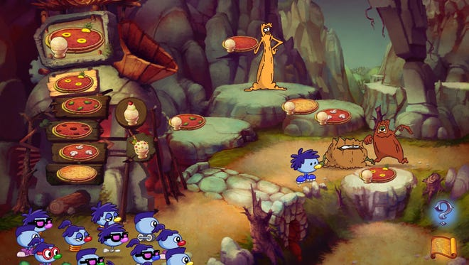 """A screenshot from the reboot of the classic 1990s logic game """"Logical Journey of the Zoombinis,"""" which is being rereleased on Thursday after nearly 20 years."""