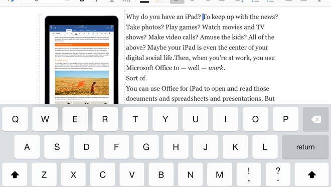 Screenshot of Microsoft Word app
