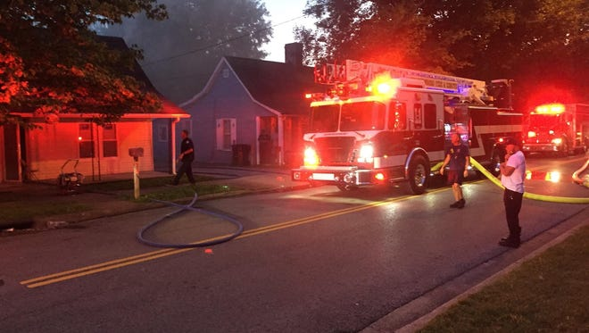 Murfreesboro Fire & Rescue Department units Thursday respond to a fire on East Vine Street.