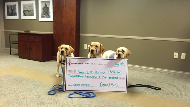 The Louisville based [give] 502 has selected Paws with Purpose to receive a $23,500 grant.