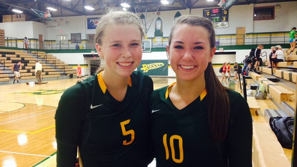 Reynolds seniors Emily Russell, left, and Courtney Koehler.