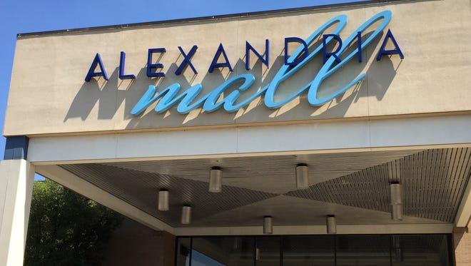 The Alexandria Mall entrance.