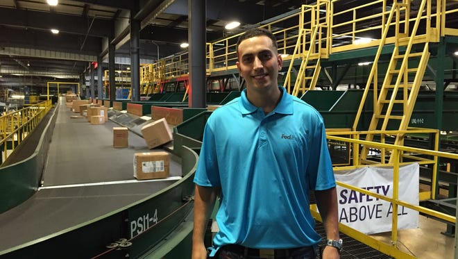 In preparation for the holiday peak shipping season, FedEx Ground in Woodbridge is looking to hire up to 700 part-time employees to help deliver. Many may have the chance to turn seasonal work into a permanent job, such as Joao Pereira, pictured, who started as a part-time package handler in August 2013 and today is a frontline manager supervising a dozen employees.