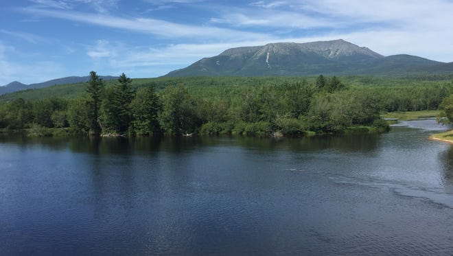 Mike and Tina Bennett enjoyed the natural beauty along the Appalachian Trail, like this shot of Mount Katahdin in Maine.
