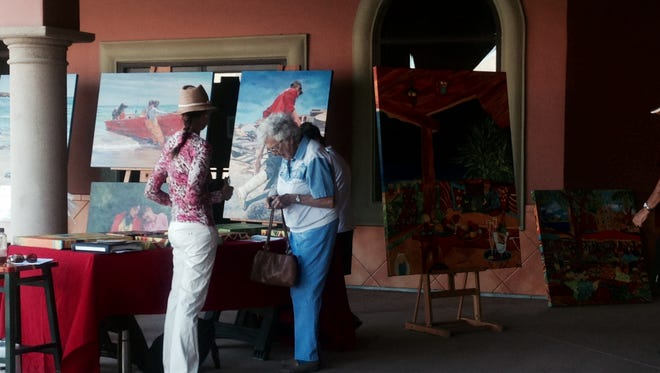 Nearly 40 artists gathered at the Mission Lakes Marketplace in March for the first Desert Hot Springs Art Stroll. The second stroll is scheduled for Saturday.