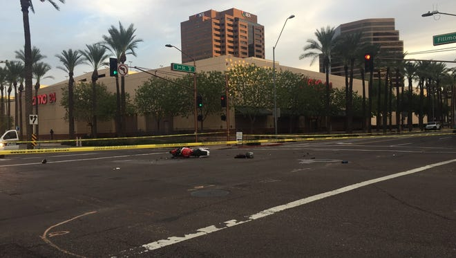 A collision involving a bus and a motorcycle occurred Tuesday evening, leaving the motorist in critical condition.