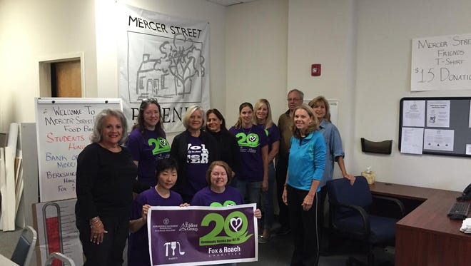 Berkshire Hathaway HomeServices Fox & Roach agents helped at the Mercer Street Friends Food Bank on Oct. 1.