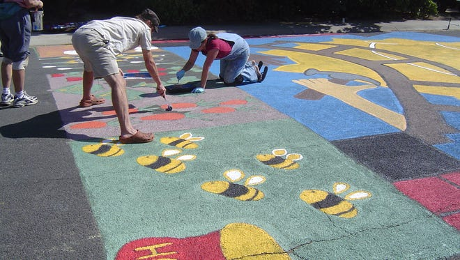 Painting the pavement in Boulder, Colo., a U.S. city that's applied the concept with success.