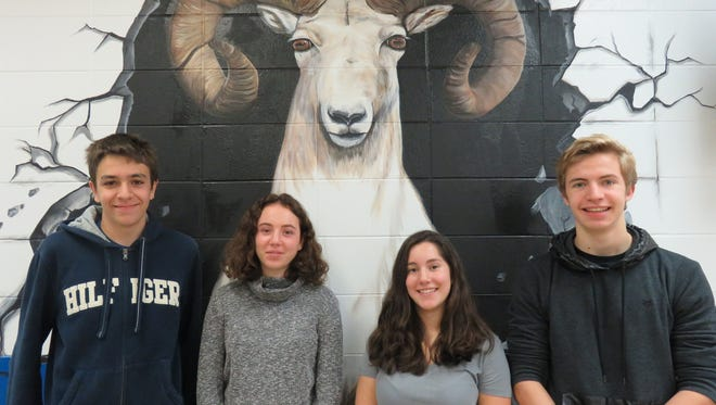 Pictured, from left, are Justus Meyer, Benedetta Lombardini, Daniela Cortes and William Humberg Sanchez. Lombardini is a student from Milan, Italy. She is staying in Fredonia with Jim and Janis Stemper. They have no students currently attending Random Lake but their three daughters, Lauren, Jessica and Alexis are Random Lake graduates. The Stempers are also hosting Cortes, another Random Lake foreign exchange student from Mexico City, Mexico. Sanchez, of São Paulo, Brazil, is staying in Cascade with host family Donna and Ralph Paape. Meyer is visiting from Leverkusen, Germany, and is living in Cedar Grove with host Roberta Krueger.