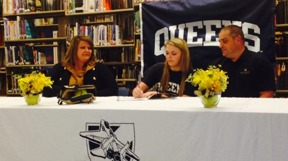 Enka senior Courtney Pearson has signed to play college softball for Queens.