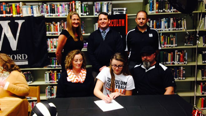 North Buncombe senior Cameron McAbee has signed to play college volleyball for Tusculum (Tenn.).