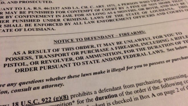A petition for a protective order alerts the offender that they may not be able to possess firearms.