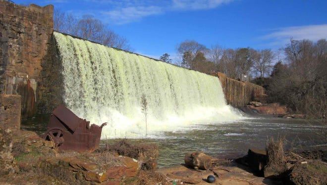 Lake Conestee Dam within the Lake Conestee Nature Park.