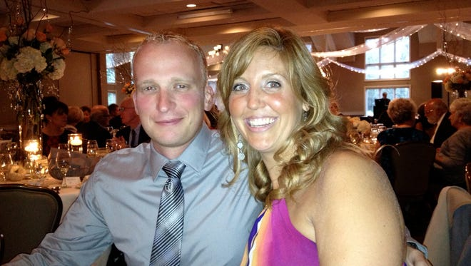 Air National Guard Captain Nathan Richeson, seen here with his wife, Alyssa, was killed while changing a tire on Interstate 77 in August 2014.