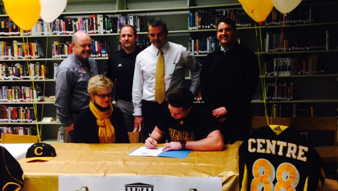 North Buncombe senior Mason Isgrig signed to play college football for Centre (Ky.) back in February.