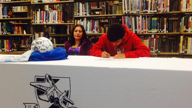 Enka senior Alejandro Escobedo has signed to play soccer for Brevard College.
