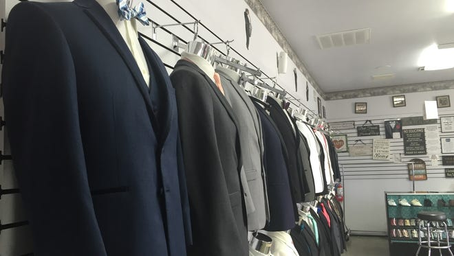Tux-N-Tails gears up for the prom rush. The menswear store is located at 1642 S. Mooney Blvd., in Visalia.