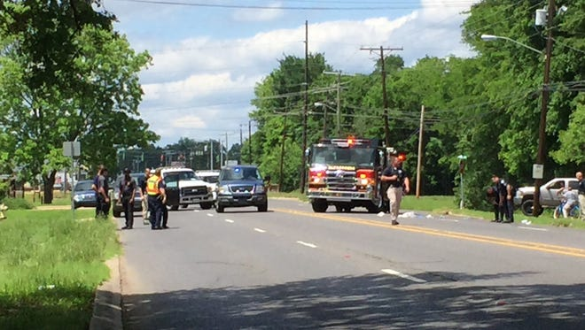 The Alexandria Police Department is investigating a Tuesday afternoon hit-and-run wreck that involved a pedestrian, according to a release.