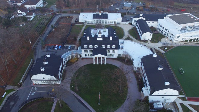 An aerial view of the Morristown-Beard School.