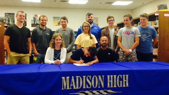 Madison senior Skyler Cantrell has signed to run college cross country and track for Mars Hill.