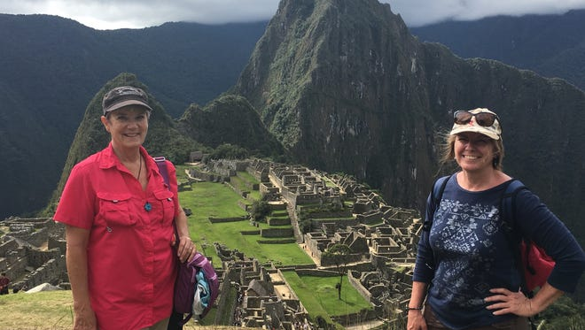 Mary Curtis and Lauren Baxter on their recent tour to Peru.
