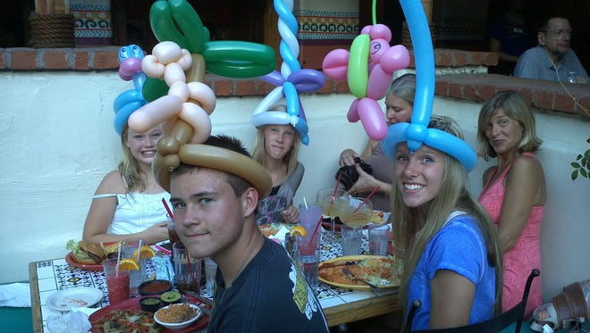 Diners 12 and younger get free soft drinks, balloons, prizes and entertainment during Kids Night Out at Las Casuelas Terraza.