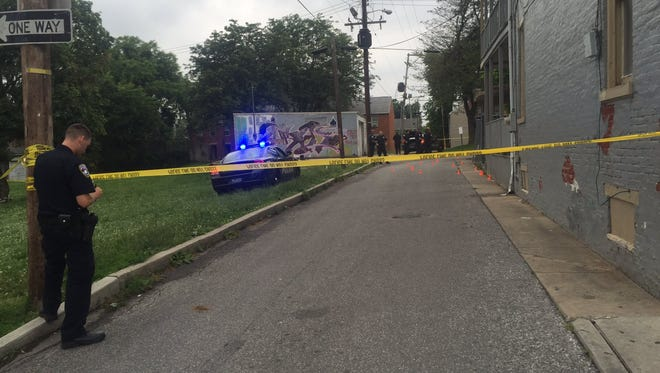 Police responded to the scene of a shooting in York on Thursday night.