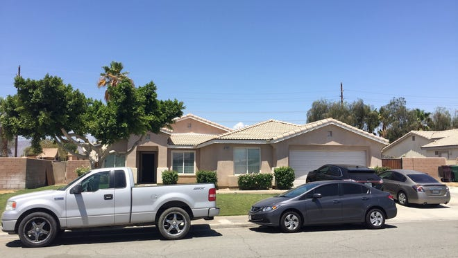 A home located on Corta Herrera where a man refused to climb off of the roof for about six hours Friday, July 1, 2016.