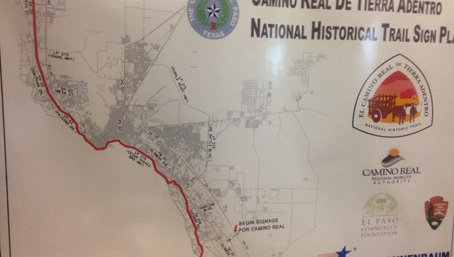 The Camino Real de Tierra Adentro National Historical Trail Sign Plan is shown.
