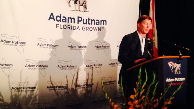 Adam Putnam at his Florida Grown breakfast for the State's republican delegation Tuesday.