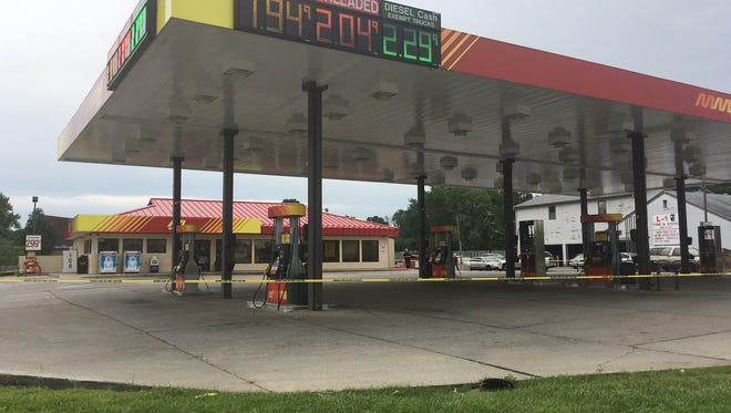 IMPD officers found a store clerk shot in the head and critically wounded about 3 a.m.outside the McClure gas station, 5301 Rockville Road,  on July 22, 2016.