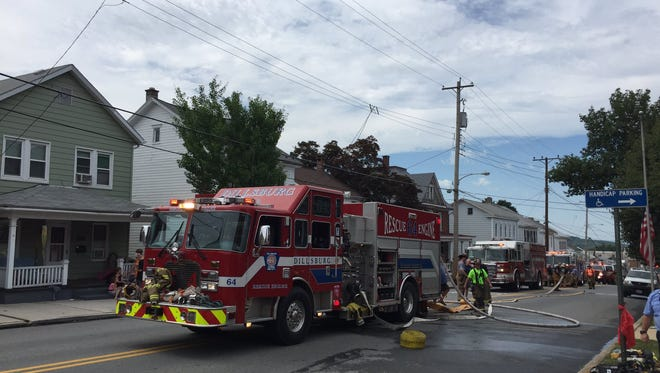 A cigarette caused a fire at a home on South Baltimore Street near Tractor Alley in Dillsburg on Friday, fire officials said.