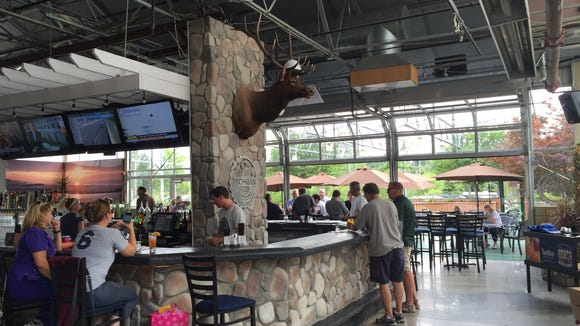 The all-season beer garden at Michigan Beer Company has indoor and outdoor seating.