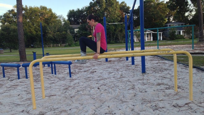 Parallel bars provide a great upper-body workout while keeping weight off an injured foot.